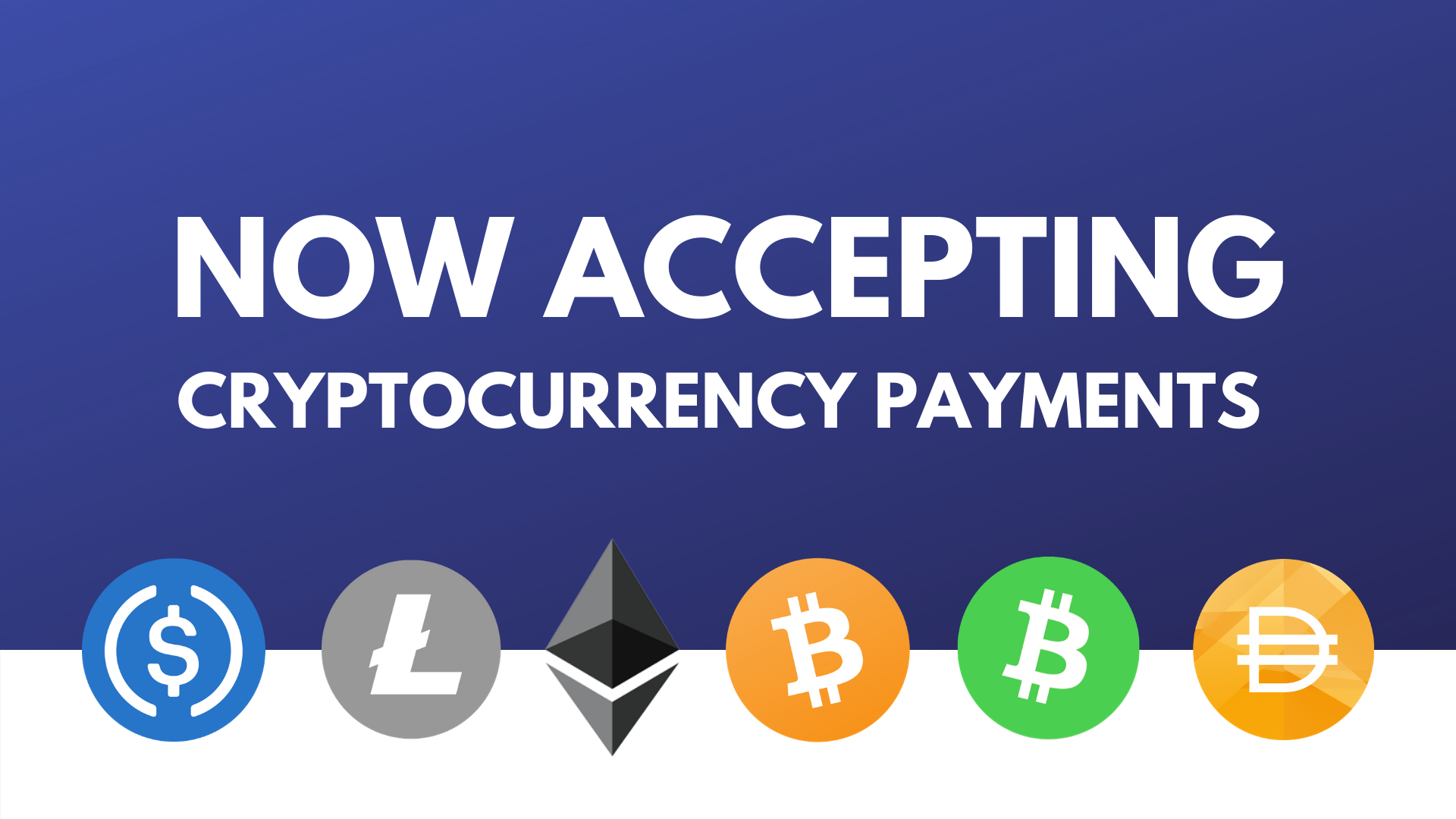Now Accepting Cryptocurrency Payments