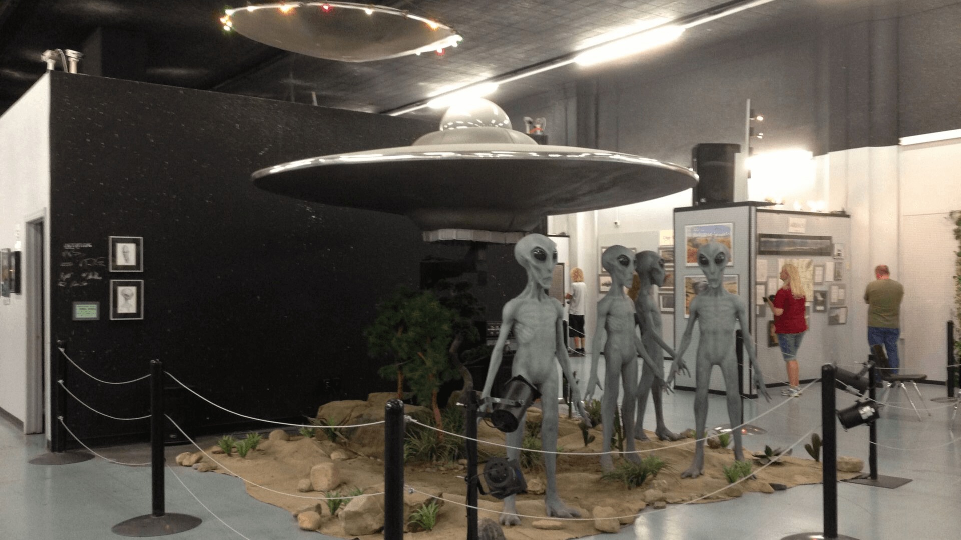 UFO and Alien exhibit
