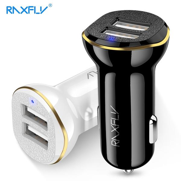 RAXFLY Dual USB Charger Car Adapter