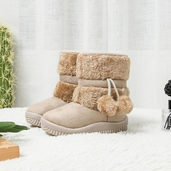 Girl's Winter Warm Plush Snow Boots