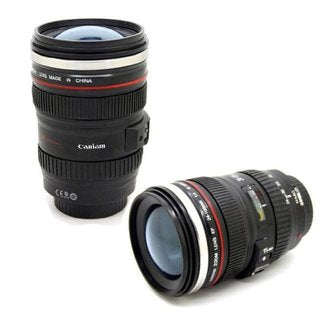 Camera Lens Mug with Transparent Lid