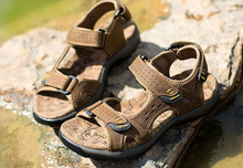 Load image into Gallery viewer, Men's Comfortable High Quality Leather Sandals - Omigod, Dibs!™