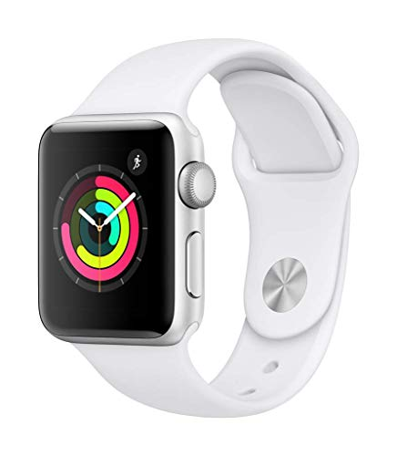 Apple Watch Series 3 (GPS, 38mm) - Silver Aluminium Case with White Sport Band