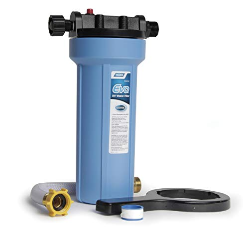 Camco EVO Premium RV & Marine Water Filter, Greatly Reduces Bad Taste, Odor, Sediment, Bacteria, Chlorine and Much More (40631)