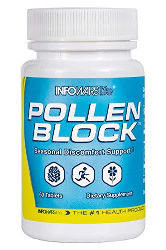 Infowars Life - Pollen Block (60 Chewable Tablets) - Supports Healthy Sinus & Respiratory Function