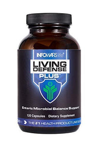 Infowars Life - Living Defense Plus (120 Capsules) – Full Body Natural Cleanse & Detox Support – Promotes Healthy Digestive System