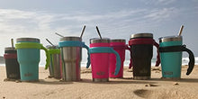 Load image into Gallery viewer, BEAST 30oz Teal Blue Tumbler - Stainless Steel Insulated Coffee Cup with Lid, 2 Straws