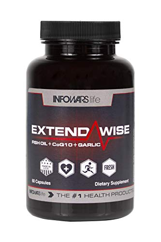 Infowars Life - ExtendaWise (60 Softgel) - Fish Oil, CoQ10, Garlic Formula