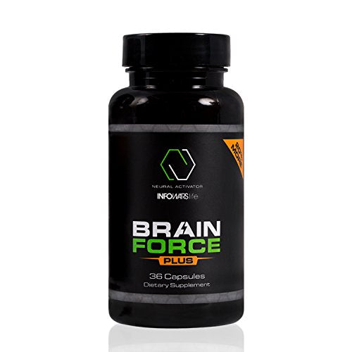 Infowars Life - Brain Force Plus (36 Capsules) – Powerful Nootropic for Memory, Focus, and Mental Clarity