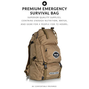 Sustain Supply Co. Premium Emergency Survival Bag/Kit – Be Equipped with 72 Hours of Disaster Preparedness Supplies for 4 People