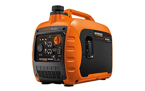 Generac GP3000i Super Quiet Inverter Generator - 3000 Starting Watts with PowerRush Technology