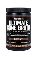 Load image into Gallery viewer, Infowars Life - Ultimate Bone Broth (15 Servings, Chocolate) – Bone Broth Protein Powder with Collagen, Turmeric Root, Chaga Mushroom, Bee Pollen & Other Ancient Super-nutrients - Omigod, Dibs!™
