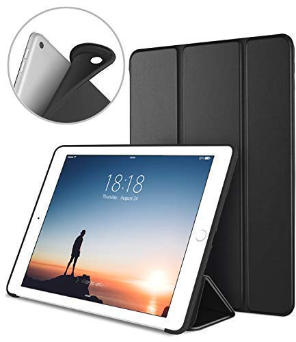 DTTO iPad 9.7 Case 2018 iPad 6th Generation Case/2017 iPad 5th Generation Case, Slim Fit Lightweight Smart Cover with Soft TPU Back Case for iPad 9.7 2018/2017 [Auto Sleep/Wake] - Black - Omigod, Dibs!™