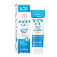 Load image into Gallery viewer, American Biotech Labs - Silver Biotics - Tooth Gel - Naturally Promotes Healthy Gums and Teeth - SilverSol Infused - Triple Action Glacial Mint with Xylitol and Peppermint Oil - 4 oz.