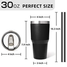 Load image into Gallery viewer, Zibtes 30oz Insulated Tumbler With Lids and Straws, Stainless Steel Double Vacuum Coffee Tumbler Cup, Powder Coated Travel Mug