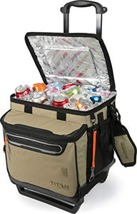 Arctic Zone Titan Deep Freeze 60 Can Rolling Cooler with All Terrain Cart