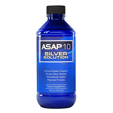 Load image into Gallery viewer, American Biotech Labs - ASAP 10 Silver Solution - Immune System Support, 10 ppm Silver Solution Dietary Supplement - 16 fl. oz.