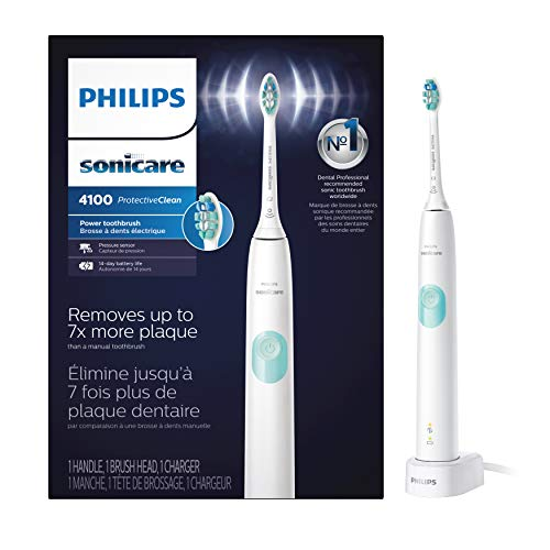 Philips Sonicare HX6817/01 ProtectiveClean 4100 Rechargeable Electric Toothbrush, White (Packaging May Vary)