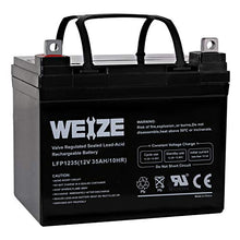 Load image into Gallery viewer, Weize 12V 35AH Battery Rechargeable SLA Deep Cycle AGM Replace 12 Volt 33AH 34AH 36AH 30AH, in Series 24V 36V 48V
