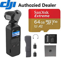 Load image into Gallery viewer, DJI OSMO Pocket - 4K/60FPS Handheld 3-Axis Action Camera with 64 GB Extreme microSD Card