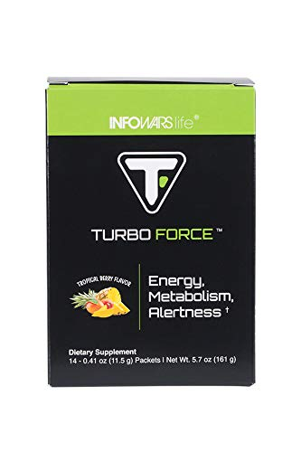 Infowars Life - Turbo Force (14 Servings) - Healthy, Natural Energy Drink Alternative - Omigod, Dibs!™