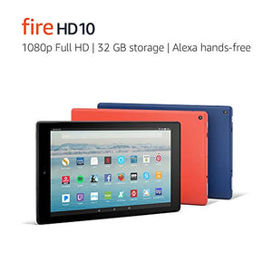 "Fire HD 10 Tablet with Alexa Hands-Free, 10.1"" 1080p Full HD Display, 32 GB, Marine Blue (Previous Generation - 7th)"
