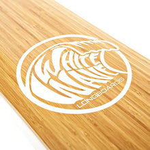 Load image into Gallery viewer, White Wave Bamboo Longboard Skateboard Complete (Cruiser)