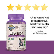Load image into Gallery viewer, Garden of Life mykind Organics Elderberry Plant Based Immune Gummy - 120 Real Fruit Gummies for Kids & Adults - Echinacea, Zinc & Vitamin C, No Added Sugar Herbal Supplements