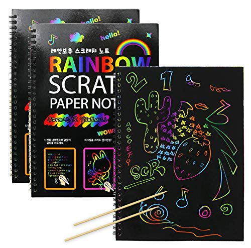 2PCS Nextnol Scratch Art Books,Each Book Have 10 Pages,Total 20 Pages - Omigod, Dibs!™