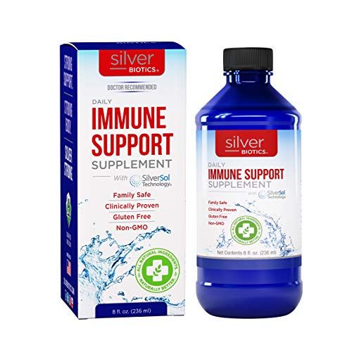 American Biotech Labs - Silver Biotics - Daily Immune Support Supplement with SilverSol Technology - 8 fl. oz.