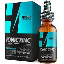 Load image into Gallery viewer, HYPR Ionic Liquid Zinc Drops. Best Advanced Nano Zinc Liquid Vitamin Supplement for Immune Support + Energy. High Bioavailability Triple Distilled and Nanotized for Men and Women