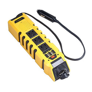 Car Power Inverter DC 12V to AC 110V With Dual USB Port 4.2A high-speed Charger and Cigarette Lighter Adapter by KATBO