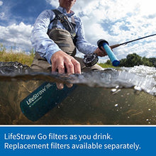 Load image into Gallery viewer, LifeStraw Go Water Filter Bottle with 2-Stage Integrated Filter Straw for Hiking, Backpacking, and Travel