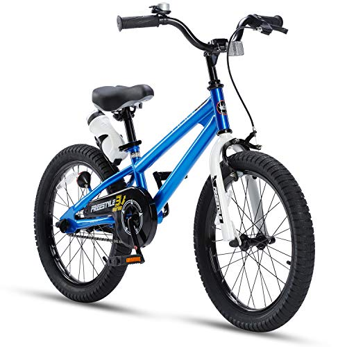 RoyalBaby Kids Bike Boys Girls Freestyle BMX Bicycle With Kickstand Gifts for Children Bikes 18 Inch