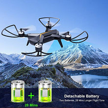 Load image into Gallery viewer, Drone with 1080P HD Camera for Kids & Adults, WiFi FPV RC Quadcopter with Headless Mode, Altitude Hold, One Key Take Off & Landing, 2.4Ghz 6-Axis Gyro Beginners Drone, 14 Mins Long Flight Time