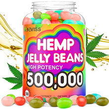 Load image into Gallery viewer, Hemp Jelly Beans for Pain and Anxiety 500,000, Stress & Inflammation Relief, Sleep, Relaxation, Calm & Mood Support - Organic Hemp Jelly Beans 150cts