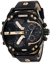 Load image into Gallery viewer, Diesel Men's Mr. Daddy 2.0 Analog-Quartz Leather Black with Black Dial DZ7350