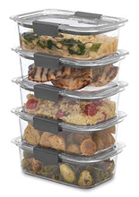 Load image into Gallery viewer, Rubbermaid Brilliance Food Storage Container, BPA free Plastic, Medium, 3.2 Cup, 5 Pack, Clear