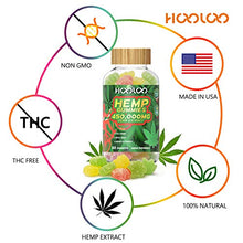 Load image into Gallery viewer, 2 Pack Hemp Gummies, HOOLOO 450,000MG Fruity Hemp Gummy for Relaxing, Reduce Stress Anxiety, Sleep Better, Natural Hemp Extract Gummies, Made in USA