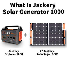 Load image into Gallery viewer, Jackery Portable Power Station Explorer 1000, 1002Wh Solar Generator with 3x110V/1000W AC Outlets, Solar Mobile Lithium Battery Pack for Outdoor RV/Van Camping, Emergency