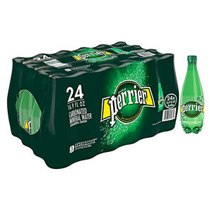 Perrier Carbonated Mineral Water, 16.9 Fl Oz (24 Pack) Plastic Bottles