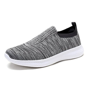 DREAM PAIRS Men's Slip on Walking Shoes Mesh Athletic Sneakers 171114-M Grey Size 9 D(M) US