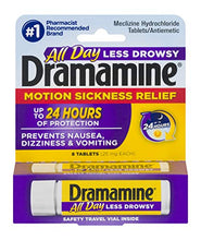 Load image into Gallery viewer, Dramamine All Day Less Drowsy Motion Sickness Relief, 8 Tablets