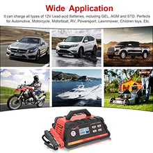 Load image into Gallery viewer, 2/10/25A 12V Smart Battery Charger/Maintainer Fully Automatic with Engine Start, Cable Clamps