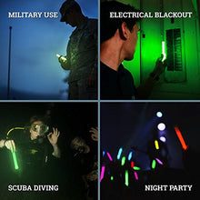 Load image into Gallery viewer, 12 Ultra Bright Glow Sticks - Emergency Light Sticks for Camping Accessories, Parties, Hurricane Supplies, Earthquake, Survival Kit and More - Lasts Over 12 Hours (Green)