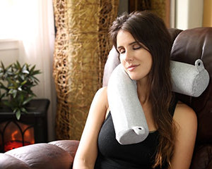 Twist Memory Foam Travel Pillow for Neck, Chin, Lumbar and Leg Support