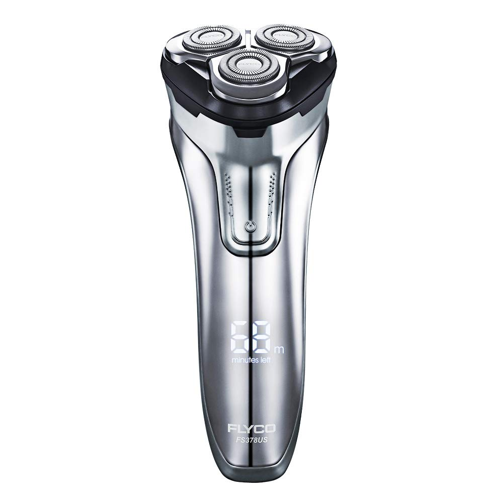 Electric Razor Rotary Shaver for Men 3D Rechargeable Cordless Shavers Close Cut Wet & Dry Razor