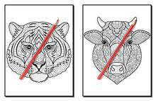 Load image into Gallery viewer, 100 Animals: An Adult Coloring Book with Lions, Elephants, Owls, Horses, Dogs, Cats, and Many More!