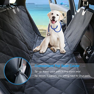 URPOWER Dog Seat Cover Car Seat Cover - 100% Waterproof 600D Heavy Duty Scratch Proof Nonslip Durable for Cars Trucks and SUVs