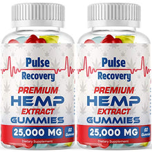 Load image into Gallery viewer, Hemp Gummies (2-Pack - 120 Count) Premium Hemp Extract Sugar Coated Gummies - 25,000mg per Bottle - for Relief of Pain, Stress, Anxiety, Improved Sleep - 100% Natural - Made in USA